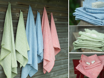 Linen towels with loops - LinenMe